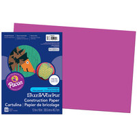 SunWorks 6407 12 inch x 18 inch Magenta Pack of 58# Construction Paper - 50/Sheets