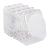 Pacon 27660 5 1/2 inch x 9 1/2 inch x 6 3/4 inch Clear Interlocking Storage Container with Lid