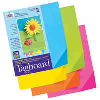 Pacon 1709 Colorwave 12 inch x 9 inch Assorted Super Bright Tagboard Sheet   - 100/Pack