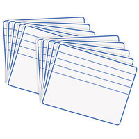 Creativity Street 988210 12 inch x 9 inch Blue / White Ruled Student Dry Erase Board - 10/Set