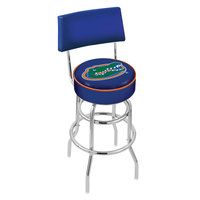 Holland Bar Stool L7C430FlorUn University of Florida Double Ring Swivel Stool with Padded Back and Seat