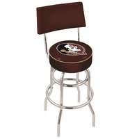 Holland Bar Stool L7C430FSU-HD Florida State University Double Ring Swivel Stool with Padded Back and Seat
