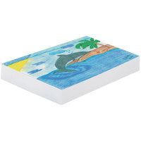 Pacon 3411 18 inch x 24 inch White Pack of 30# Smooth Unruled Newsprint Paper - 500/sheets