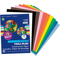 Pacon 103031 Tru-Ray 9 inch x 12 inch Assorted Color Pack of 76# Construction Paper - 50/Sheets