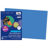 SunWorks 7407 12 inch x 18 inch Blue Pack of 58# Construction Paper - 50/Sheets