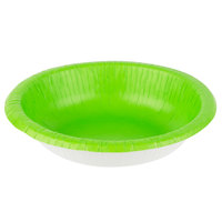 Creative Converting 173123 20 oz. Fresh Lime Green Paper Bowl - 200/Case