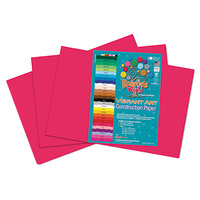 Roselle 62802 12 inch x 18 inch Scarlet Pack of 58# Heavy Weight Construction Paper - 50/Sheets