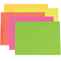 Pacon 104234 28 inch x 22 inch Assorted Neon Color Poster Board   - 25/Case