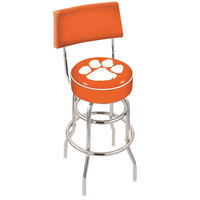 Holland Bar Stool L7C430Clmson Clemson University Double Ring Swivel Stool with Padded Back and Seat