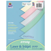 Pacon 101058 Array 8 1/2 inch x 11 inch Assorted Pastel Color Ream of 20# Multi-Purpose Paper - 500/Sheets