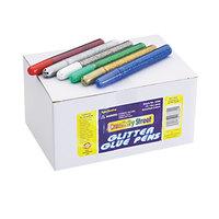 Chenille Kraft 338000 Assorted 12-Color Glitter Glue Pen - 72/Pack