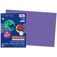Pacon 103627 Riverside 12 inch x 18 inch Violet Pack of 76# Construction Paper - 50/Sheets