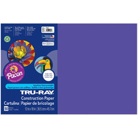 Pacon 103051 Tru-Ray 12 inch x 18 inch Purple Pack of 76# Construction Paper - 50/Sheets