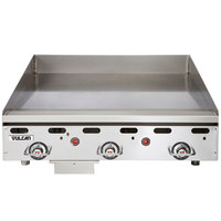 Vulcan MSA36-C0100P 36 inch Countertop Liquid Propane Griddle with Rapid Recovery Plate and Piezo Ignition - 81,000 BTU