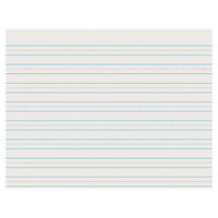 Pacon 2637 8 1/2 inch x 11 inch White Skip-A-Line 1/4 inch Dotted 1/2 inch Ruled Pack of 30# Newsprint Paper - 500/sheets