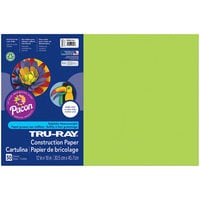 Pacon 103425 Tru-Ray 12 inch x 18 inch Brilliant Lime Pack of 76# Construction Paper - 50/Sheets