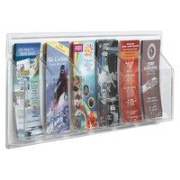 Aarco LRC113 31 inch x 11 inch Clear-Vu 6-Pocket Pamphlet Display