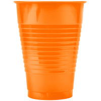Creative Converting 28191071 12 oz. Sunkissed Orange Plastic Cup - 20 / Pack