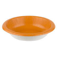 Creative Converting 323395 20 oz. Pumpkin Spice Orange Paper Bowl - 200/Case