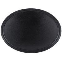 Carlisle 3100GR2004 Black 31 inch x 23 inch Griptite 2 Oval Non Skid Fiberglass Serving Tray