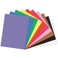SunWorks 6517 18 inch x 24 inch Assorted Color Pack of 58# Construction Paper - 50 Sheets