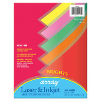 Pacon 101105 Array 8 1/2 inch x 11 inch Assorted Bright Color Ream of 24# Multi-Purpose Paper - 500/Sheets