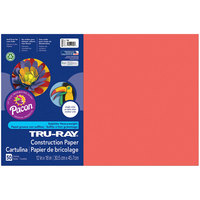 Pacon 103062 Tru-Ray 12 inch x 18 inch Red Pack of 76# Construction Paper - 50/Sheets