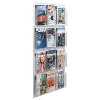 Aarco LRC111 30 inch x 49 inch Clear-Vu 12-Pocket Magazine Display