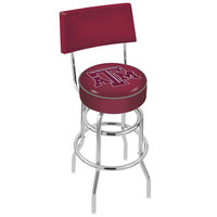 Holland Bar Stool L7C430TexA-M Texas A&M Double Ring Swivel Stool with Padded Back and Seat