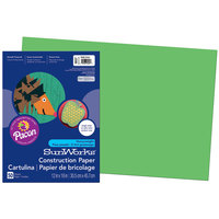 SunWorks 9607 12 inch x 18 inch Bright Green Pack of 58# Construction Paper - 50/Sheets