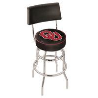 Holland Bar Stool L7C430Oklhma University of Oklahoma Double Ring Swivel Stool with Padded Back and Seat