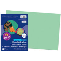 SunWorks 8107 12 inch x 18 inch Light Green Pack of 58# Construction Paper - 50/Sheets