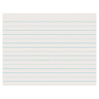Pacon 2631 8 1/2 inch x 11 inch White Skip-A-Line 1/2 inch Dotted 1 inch Ruled Pack of 30# Newsprint Paper - 500/sheets