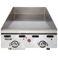 Vulcan MSA24-C0100P 24 inch Countertop Natural Gas Griddle with Rapid Recovery Plate and Piezo Ignition - 54,000 BTU