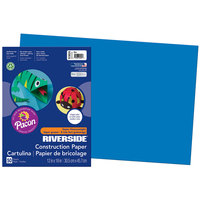 Pacon 103624 Riverside 12 inch x 18 inch Blue Pack of 76# Construction Paper - 50/Sheets