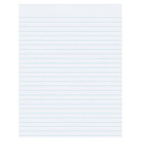 Pacon 2403 8 1/2 inch x 11 inch White 3/8 inch Ruling Pack of 16# Composition Paper With No Margin - 500/Sheets