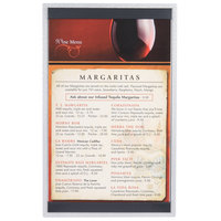 8 1/2 inch x 14 inch Menu Solutions ALSIN814-ST Single Panel Brushed Finish Aluminum Menu Board with Top and Bottom Strips