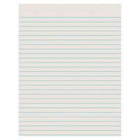 Pacon 2603 8 1/2 inch x 11 inch White 3/8 inch Ruled Pack of 30# Newsprint Paper - 500/sheets