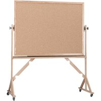 Aarco RBB3648 36 inch x 48 inch Reversible Free Standing Natural Cork Board with Solid Oak Wood Frame