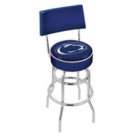 Holland Bar Stool L7C430PennSt Penn State University Double Ring Swivel Stool with Padded Back and Seat