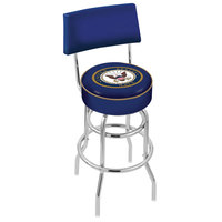 Holland Bar Stool L7C430Navy United States Navy Double Ring Swivel Stool with Padded Back and Seat