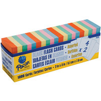 Pacon 74170 2 inch x 3 inch Assorted Color Flash Cards with Dispenser Box - 1000/Pack