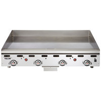 Vulcan MSA48-C0100P 48 inch Countertop Liquid Propane Griddle with Rapid Recovery Plate and Piezo Ignition - 108,000 BTU