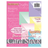 Pacon 109130 Reminiscence 8 1/2 inch x 11 inch Assorted Pastel Pearl Colors Pack of 65# Cardstock - 50/Pack