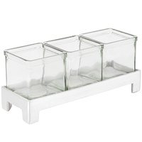 Cal-Mil 1560-2 Aluminum Three Jar Display - 12 inch x 4 1/4 inch x 2 inch