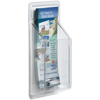 Aarco LRC116 4 inch x 14 inch Clear-Vu Single Pocket Pamphlet Display