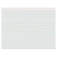 Pacon 2623 8 1/2 inch x 11 inch White 1/4 inch Dotted 1/2 inch Ruled Pack of 30# Newsprint Paper - 500/sheets