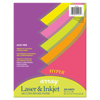Pacon 101135 Array 8 1/2 inch x 11 inch Assorted Hyper Color Ream of 24# Multi-Purpose Paper - 500/Sheets