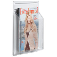 Aarco LRC100 11 inch x 14 1/4 inch Clear-Vu Single Pocket Magazine Display