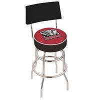 Holland Bar Stool L7C430AL-Ele University of Alabama Double Ring Swivel Stool with Padded Back and Seat